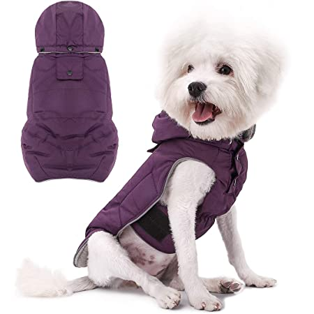 Waterproof and Windproof Anxiety Vest Fragralley Dog Hoodies Clothes Pet Winter Coat for Small Medium Large Dogs