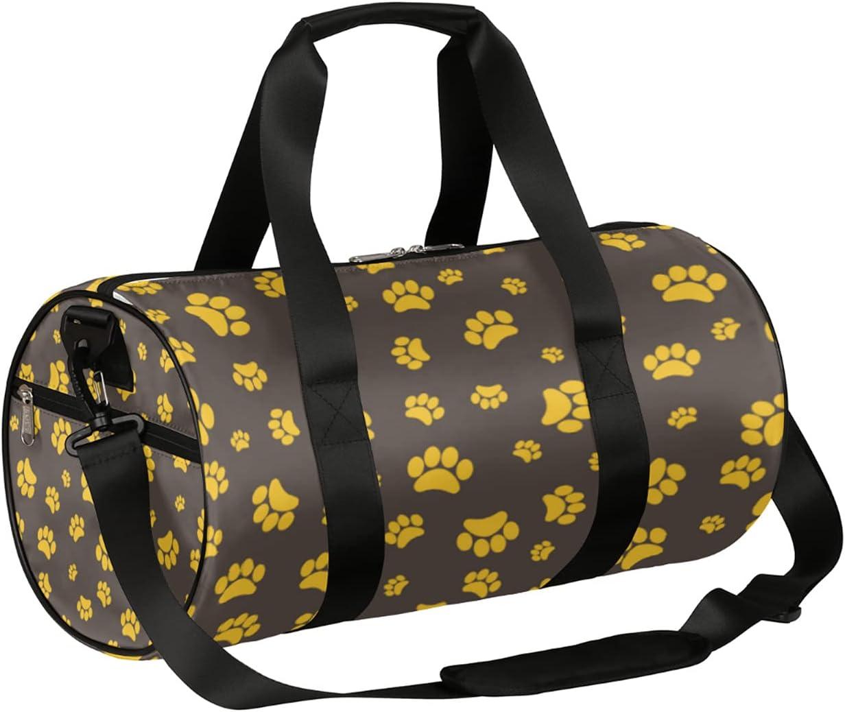 Sport Gym Bag Animal Dog Duffel lightweigh Tampa Mall Spasm price Pattern Paw Small