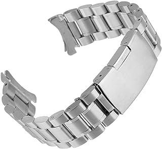 Beauty7 Bracelet du Montre 16mm/18mm/20mm/22mm/24mm Bande du Montre pour Cadran Rond Boucle Deployante en Acier Remplaceme...