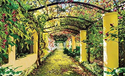 Garden pergola, carta da parati, Carta premium 115 g/m², XXL - 368cm x 254cm (WxH)