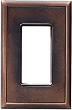 Single Decorator GFCI Rocker Light Switch Outlet Cover Plates Questech Screwless Wall Plate Covers | No Visible Screws (Oil Rubbed Bronze)