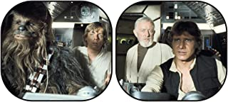 Plasticolor 003747R01 Star Wars Millennium Falcon 2-Piece Magic Spring Window Sunshade