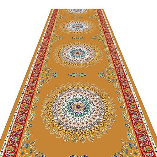 XZPENG Corredor de alfombras for Pasillo larga alfombra antideslizante resistente a las manchas suave de pelo corto de entrada del paso del Este Ater absorbente antideslizante Moda, creatividad, comod