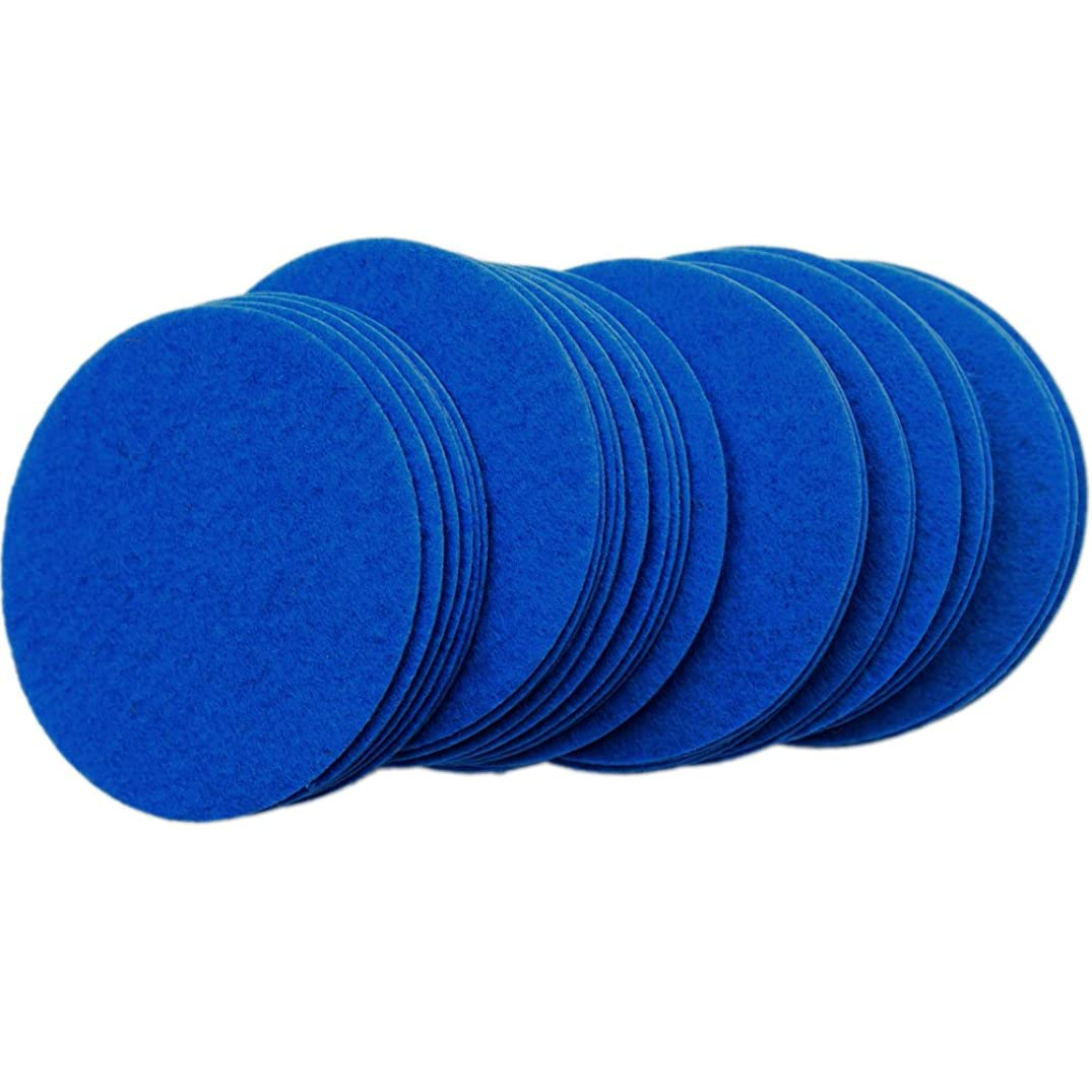 Playfully Ever After 3 Inch Blue 30pc Stiff Felt Circles