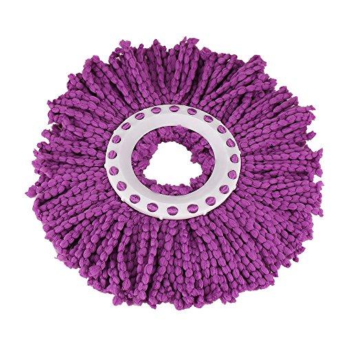 Fahooj ersatzkopf disc mop I wischbezug I Ersatzkopf Disc Mop I saugfähiger Microfaser I Schmutzaufnahme (Lila, one Size)