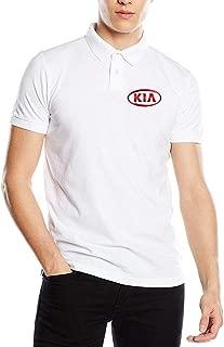 SHENGN Design Funny Men's Tees KIA Auto Logo Polo Shirts