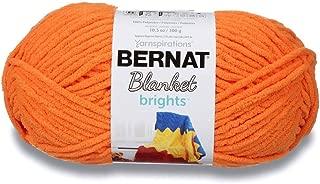 Bernat Blanket Brights Fabric, Carrot Orange