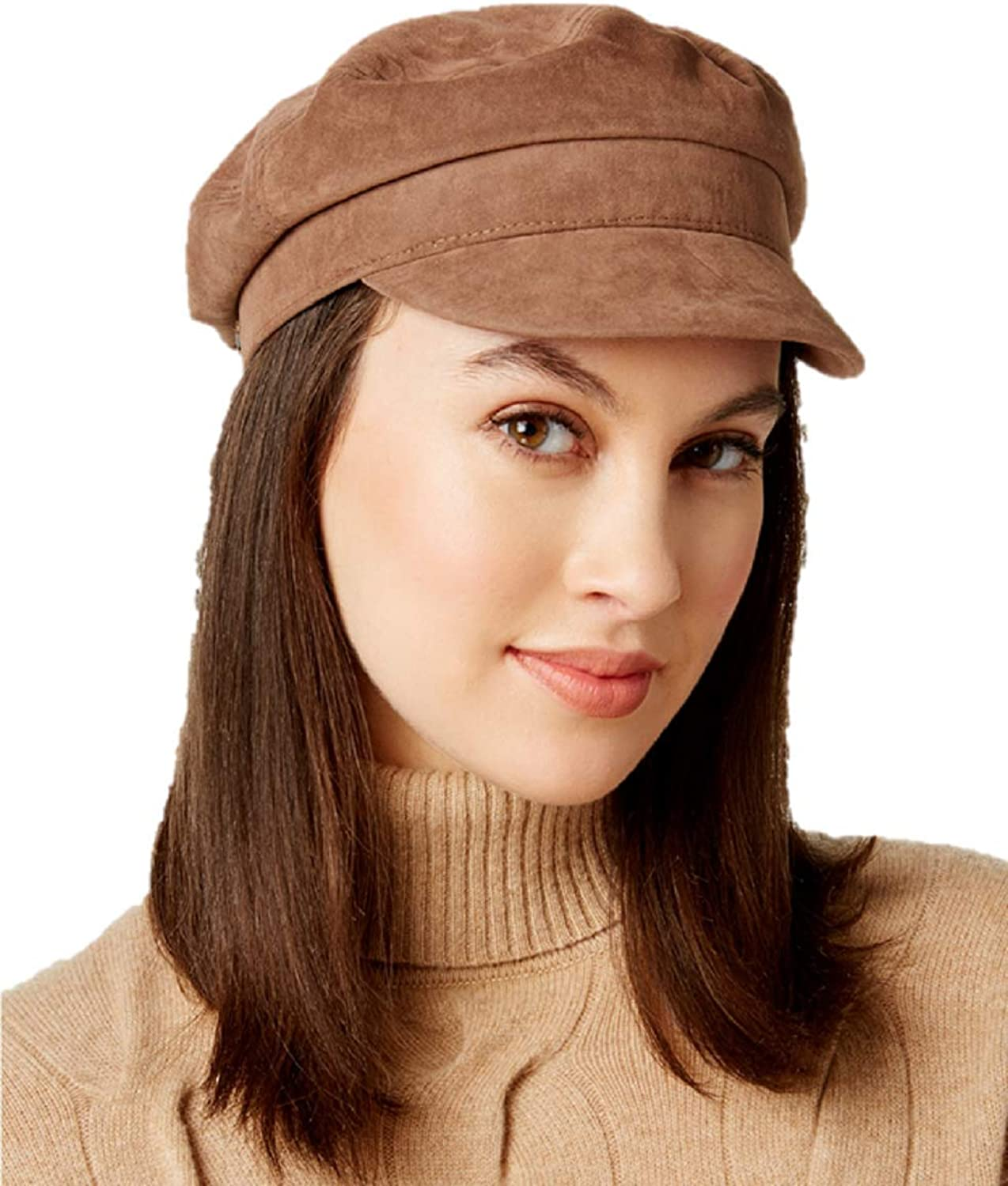 Nine West FauxSuede Flat Newsboy Cap in Taupe