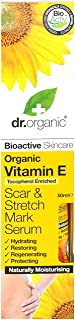 DR ORGANIC Scar & Stretch Mark Serum Organic Vitamin E, 50 Milliliter