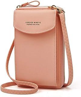 Handytasche zum Umhängen,Aeeque Damen Handy Umhängetasche PU Leder,Mobile Bag Geldbeutel mit Kartenfächer und Schultergurt...