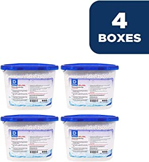 Dry & Dry 4 Packs [Net 10 Oz/Pack] Premium Moisture Absorber to Control Excess Moisture for Basements, Closets, Bathrooms, Laundry Rooms. No More Damp, Mold