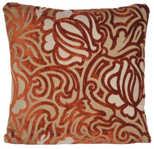 Housse de coussin en velours orange Couvre-lit design moderne taie d'oreiller marvic textiles Tissu Jaune Safran