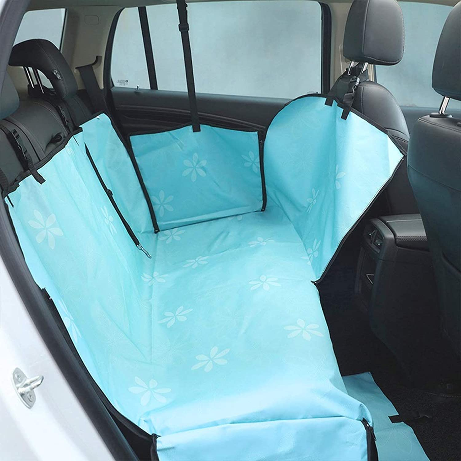 Dog Car Seat Covers Hammock Waterproof Back Seat Cover Predector Pet Travel Cover Universal fits All Cars (color   Sky bluee, Size   OneSize)