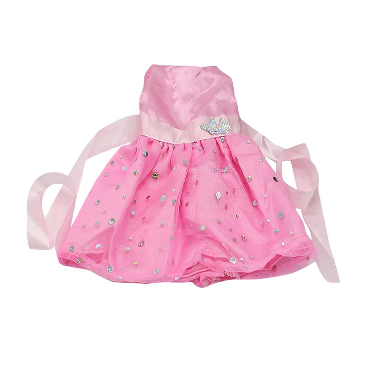 ご覧ください蛇行言及する【ノーブランド品】18インチ アメリカンガール 着せ替え人形用 ピンク 蝶 ドレス