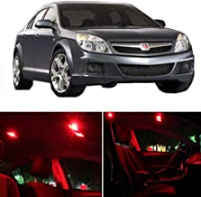 SCITOO Interior LED Lights Red Replacement Fits for Saturn Aura 2007-2010 Accessories Package Kit 10 Pcs