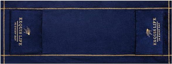Fengshengli Horno de microondas Campana universal a prueba de aceite, decoración del hogar, anti polvo, suave bordado con bolsillos de almacenamiento, accesorios nórdicos de protección (azul)