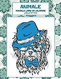 Mandala Libro da colorare - Livello difficile - Animale