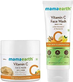 Mamaearth Vitamin C Clear Skin Combo - 200 ml(Vitamin C Face Wash 100ml + Vitamin C Face Mask 100g)