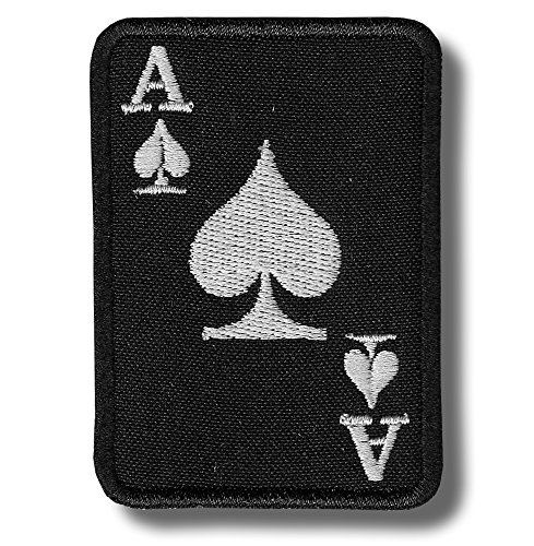 Ace of spades - embroidered patch, 7 X 5 cm.