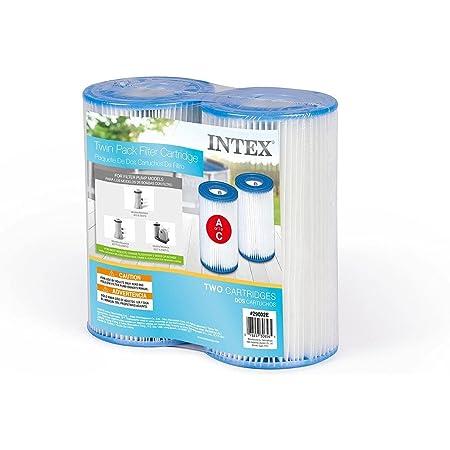 Intex N/AA Lot de 2 Cartouches filtrantes Type A pour Piscine, Blanc, 1 Pack