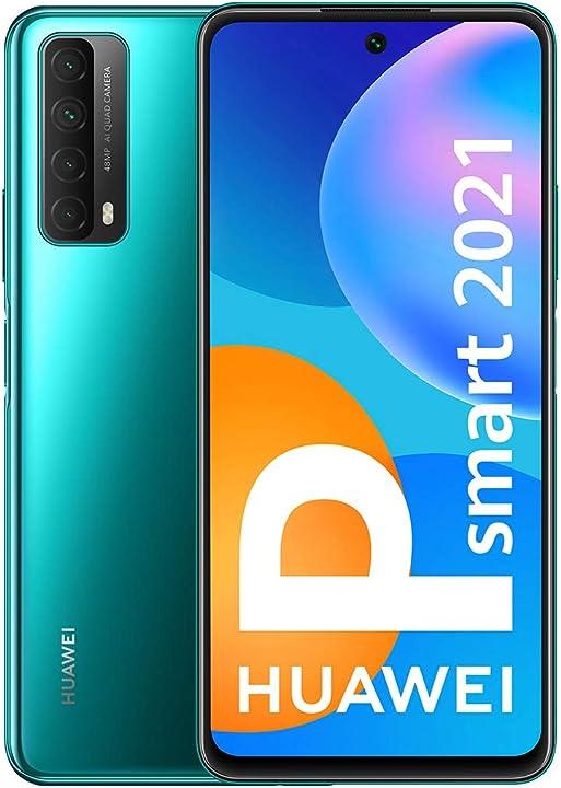 Smartphone huawei p smart 2021 128gb 4gb ram dual sim crush green 51096ABX