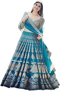 REKHA Diwali Latest Indian Designer Lehenga Choli Embroidery Work Pary Wear Lehenga Choli 22 Blue