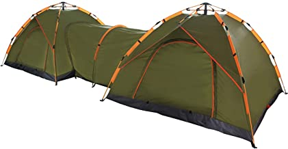 Qwest Automatic Instant Pop Up Camping Tents Shelter, Green | Double Tent/Tall Tent