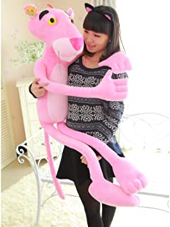 bokl Pink Panther Stuffed Plush Toy Big Panther Dolls Leopard Plush Dolls for