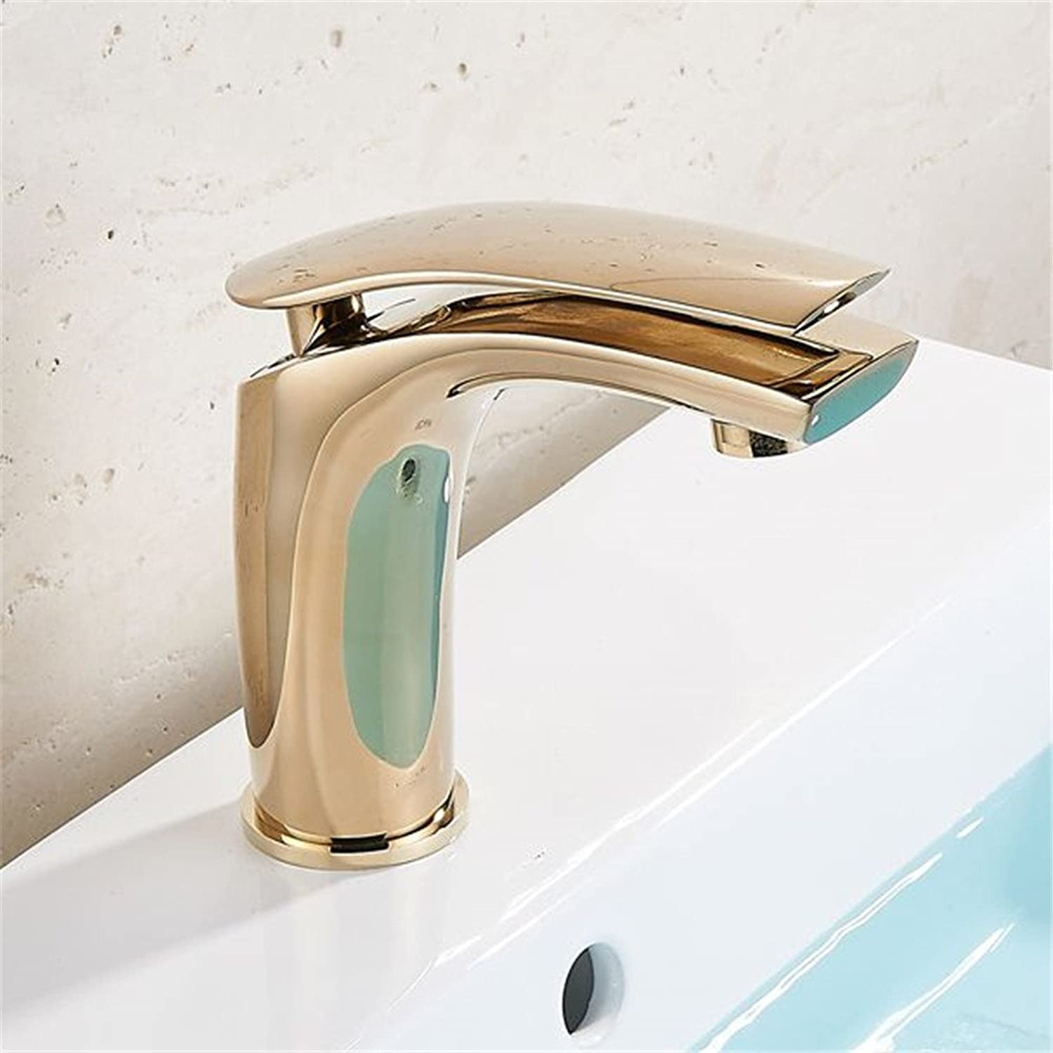 Bijjaladeva Antique Bathroom Sink Vessel Faucet Basin Mixer Tap The height of the golden Bathroom Cabinet faucet basin sink single hole on the copper cold water faucet C