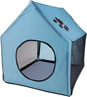 Portable Travel Dog House Detachable Pet Kennel for Cat and Puppies Indoor/Outdoor Bed AXCDE