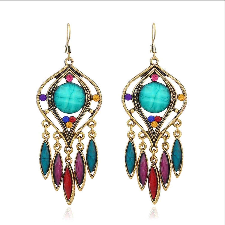 Fashion Women's Earrings, Vintage Bohemian Earrings Elegant Queen