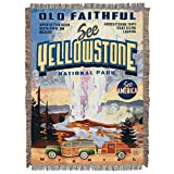 The Northwest Company, 'Vintage Yellowstone' Woven Tapestry Throw Blanket, 48' x 60', Multi Color