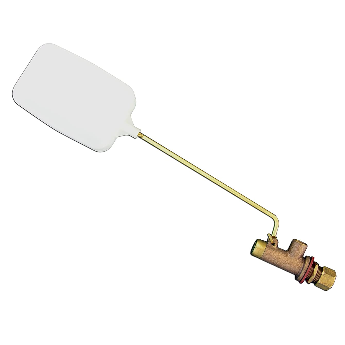 LASCO 05-1058 Heavy Duty 3/8-Inch Compression Evaporative Swamp Cooler Float Valve, Brass