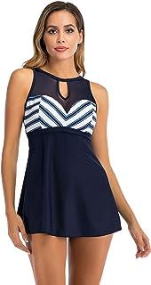 Wellwits Womens Crop Top Flouncing Rainbow Gradient Plus Size Bikini Swimsuit