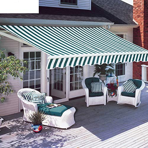 Diensweek Patio Awning Retractable Fully Assembled Manual Commercial Grade - Quality 100% 280G...