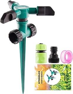 Milemont Garden Sprinkler Lawn Irrigation System 360 Degree Rotating Lawn Sprinkler Automatic Garden Water Sprinkler