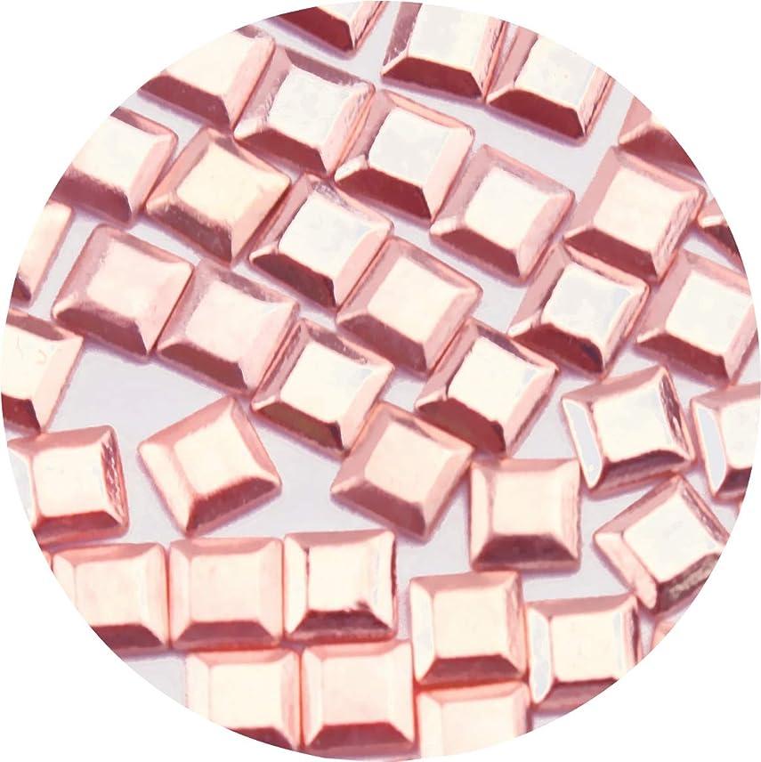 省毒液雄弁家JewelryNail(ジュエリーネイル) Jewelry-Nail LP8016PG スタッズスクエア ピンクゴールド 2mm 50P 50個