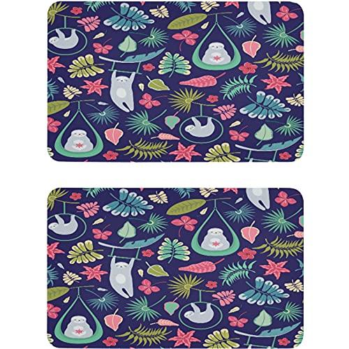 Vnurnrn Imán para lavaplatos con forma de perezoso de palma, diseño de animales tropicales, placa magnética, placa decorativa para cocina, oficina, lavadora, 2 unidades