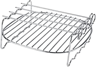 Asixx BBQ Rack, BBQ Rack, 304 Stainless Steel Replacement BBQ Rack with Double Layer Skewers Baking Tray for Philips Air Fryer HD9225, HD9920, HD9231, HD9233, HD9904, ect.