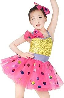 Ballet Costume Dance Dress for Children Camisole Sequin Polka Dots