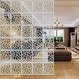Lamptop DIY Raumteiler aus umweltfreundlichem PVC, einfache und moderne Hängepaneele, geschnitzte Fenstertrennwand, 29 x 29 cm, weiß, 12 Stück