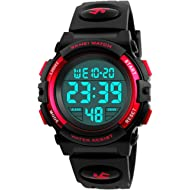 Kid's Digital Watch Outdoor Sports 50M Waterproof Electronic Watches Alarm Clock 12/24 H...