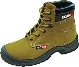 Scan Cougar Nubuck Safety Boot S1P Size 10-44