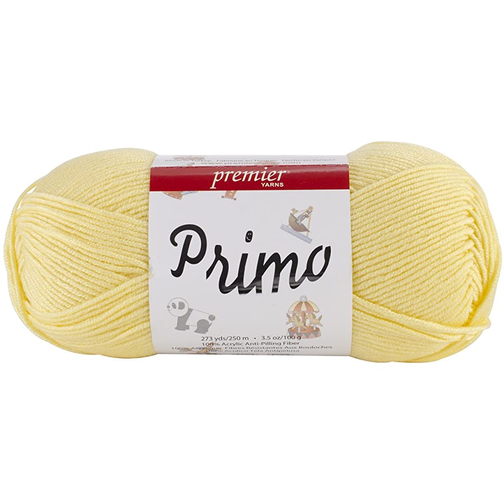 Premier Yarn Primo Yarn, Baby Yellow, 3 Pack