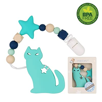 Pacifier Clip with Cat Teether for Boys TYRY.HU...