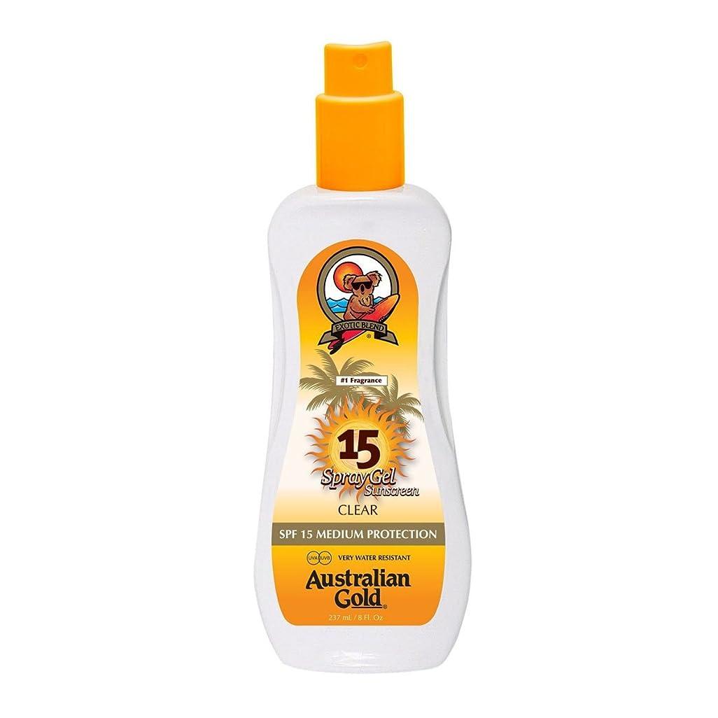 鷲設置繊毛Australian Gold Spray Gel Spf15 237ml [並行輸入品]