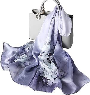 Women's Silk Scarf Fashion Sunscreen Shawls Wraps for Headscarf Neck