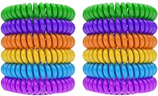 12pcs Non-Toxic Mosquito Repellent Bracelets Natural Plant-Based Oil Mosquito Bands Travel Insect Repellent Soft Material