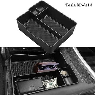 EDBETOS Organizer for Tesla Model 3 2017 2018 2019 Center Console Armrest Organizer Tray Glass Holder Pallet Storage Box Container