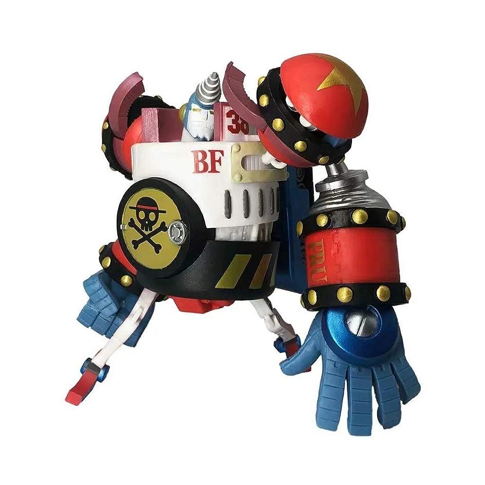 違法恐怖症ホースアニメワンピースモデル、PVC子供のおもちゃコレクション像、デスクトップ装飾玩具像玩具モデル、SG FRANKY(14cm) JSFQ